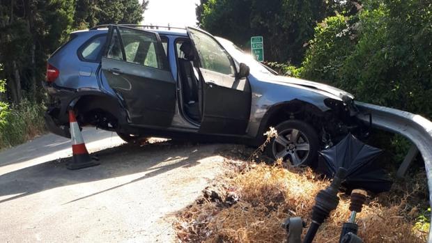 Imagen de cómo quedó el vehículo tras el suceso