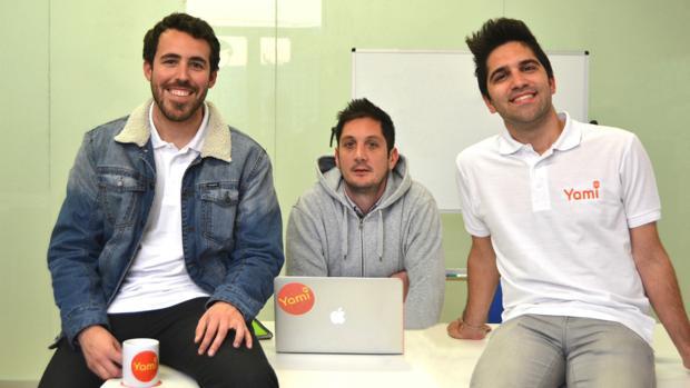 Los tres jóvenes andaluces creadores de Yami
