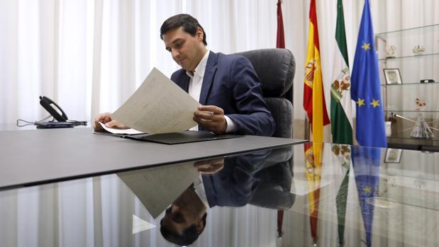 Bellido, en el despacho de Alcaldía