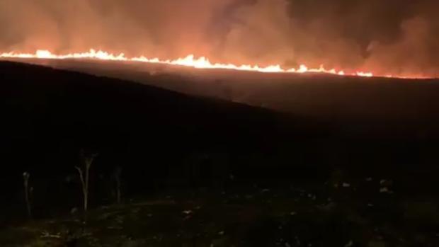 Imagen de uno de los incendios de Algeciras