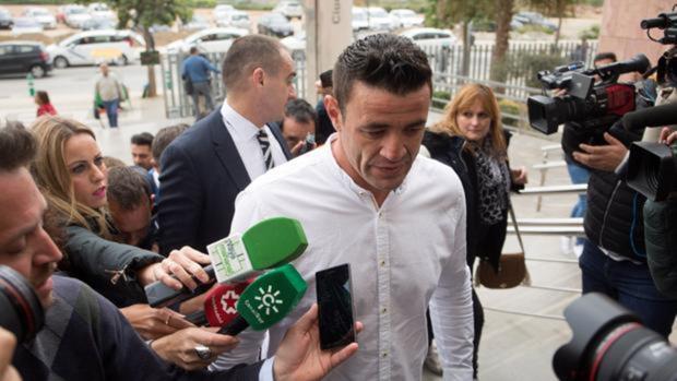David Serrano, dueño de la finca de Totalán, en una de sus comparecencias en el Juzgado