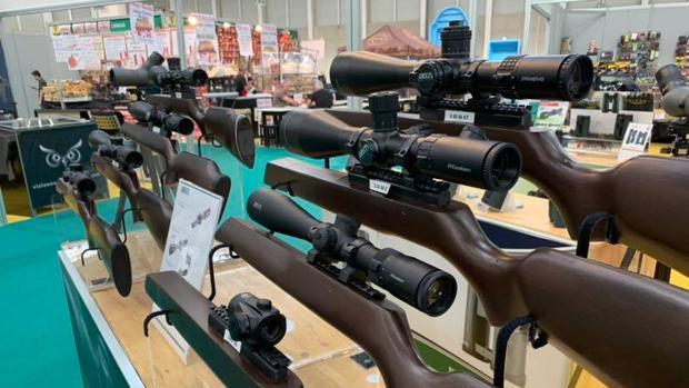 Armas expuestas en Ibercaza