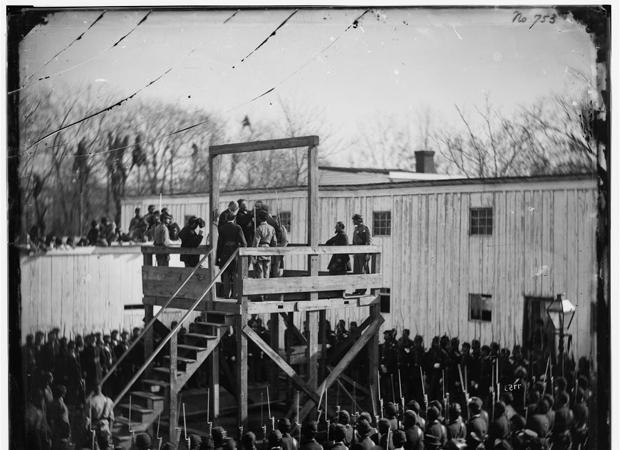 Ejecución del capitán Wirz, en Washington. Algunos de los prisioneros de la Guerra de Secesión sufrieron muy duras condiciones, que redujeron la longevidad de sus hijos, según un estudio