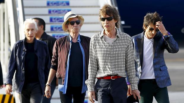 Los Stones, en el aeropuerto José Martí de La Habana