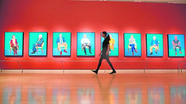 Los retratos de Hockney en la Royal Academy
