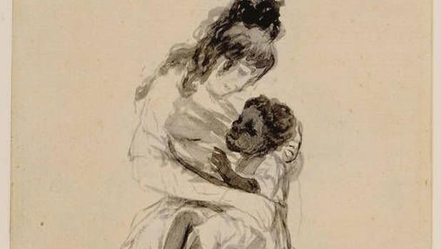 «La Duquesa de Alba teniendo en sus brazos a María de la Luz», de Goya