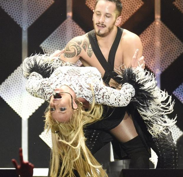 Britney Spears, durante un concierto en el Staples Center de Los Ángeles el pasado 2 de diciembre