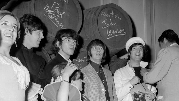 Los Beatles, durante su primera visita a España en julio de 1965