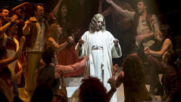 Ted Neeley, en una escena del musical