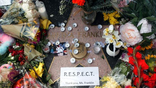La estrella de Aretha Franklin en el Paseo de la Fama