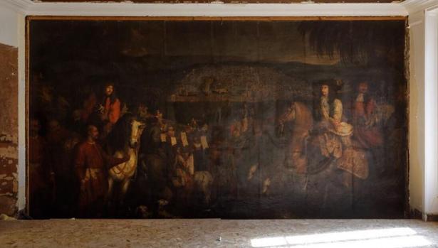 La investigación sobre el cuadro ha determinado que se trata de un óleo sobre lienzo pintado en 1674