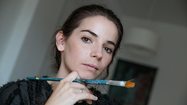 María José Morón trabajando en una de sus obras