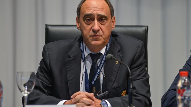 Juan Díaz Cano, presidente de la Real Liga Naval Española