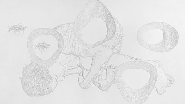 Dibujo de la serie «Las relaciones precarias» (2019)