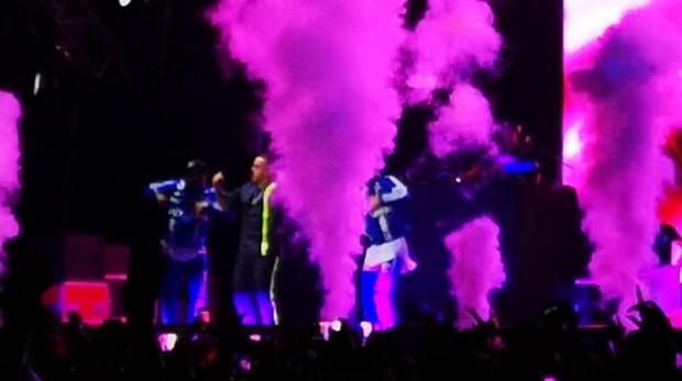 Un momento del concierto de Daddy Yankee ayer en Sevilla