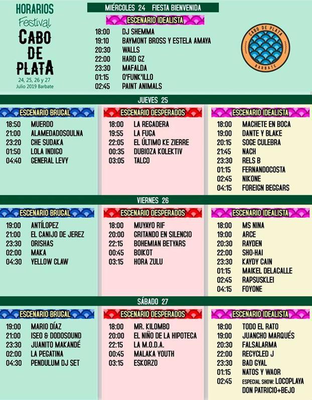 Calendario Atrapalo.El Festival Cabo De Plata Presenta Su Calendario Oficial De Conciertos