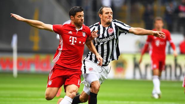 Xabi Alonso, en el partido ante el Eintracht