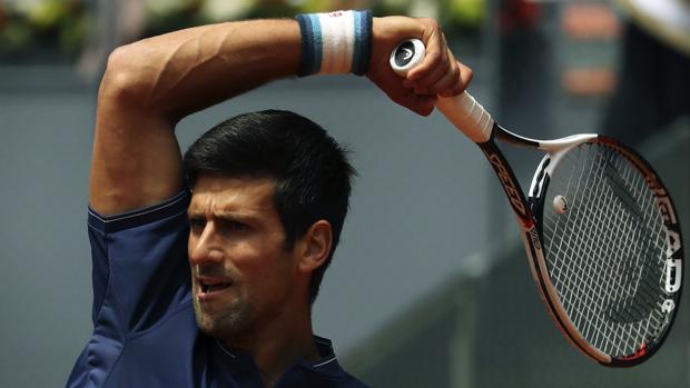 Djokovic, durante su partido ante Almagro