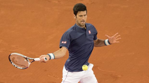 Novak Djokovic, en su partido conta Feliciano López