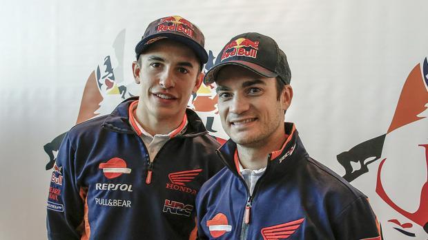 Marc Márquez y Dani Pedrosa, en Jerez.