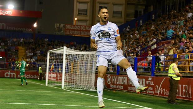 Quique González tras anotar el gol de la victoria
