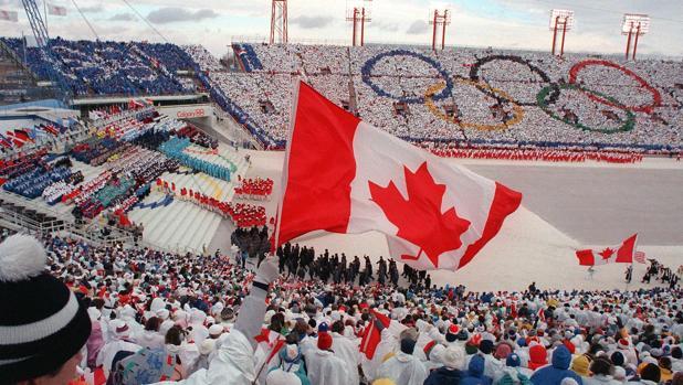 Una imagen de Calgary, durante los Juegos Olímpicos de 1988