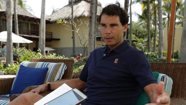 Rafa Nadal, en su hotel de Acapulco