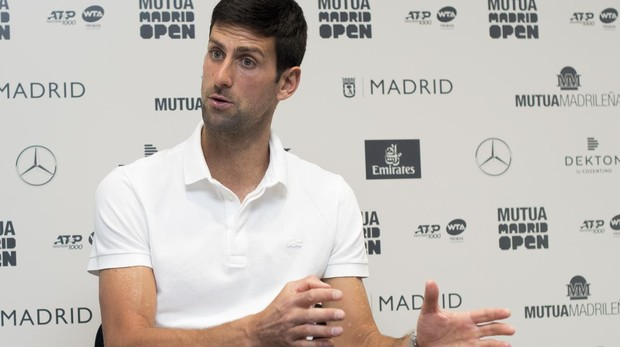 Novak Djokovic, durante la entrevista con ABC