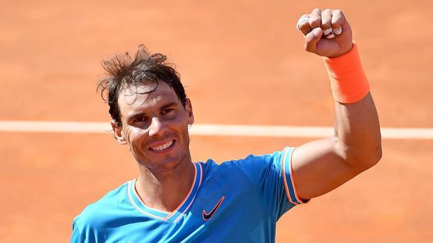 Rafael Nadal después de ganar a Verdasco en Roma