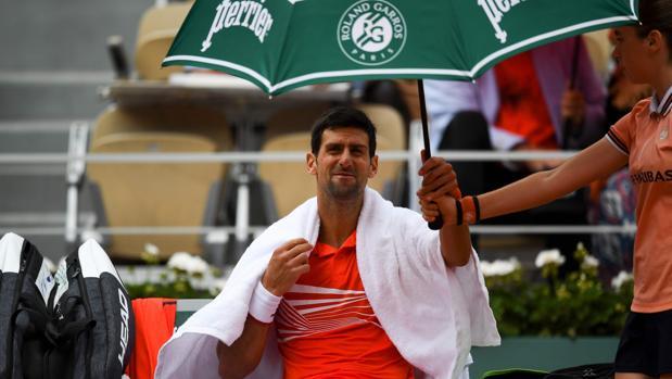 Djokovic, durante su partido ante Struff