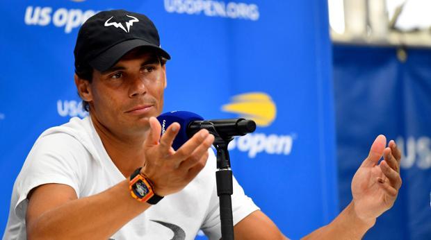 Nadal, durante la rueda de prensa en el US Open