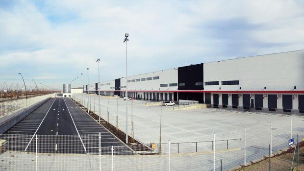 Imagen del nuevo centro logístico de Amazon