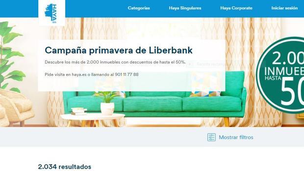 Página web de Liberbank
