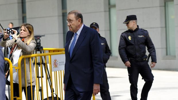 Mauricio Casals, a su llegada a la Audiencia Nacional