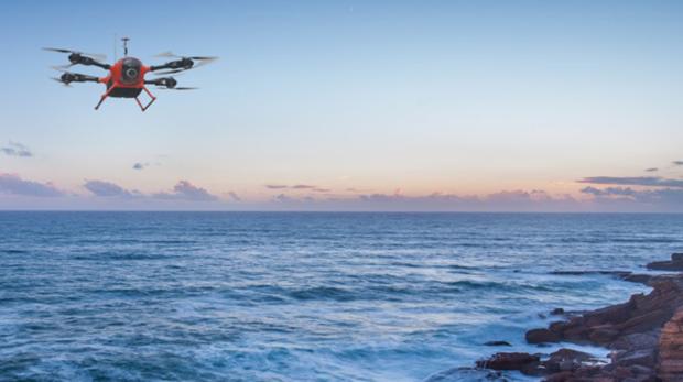 El dron salvavidas, en una imagen difundida por sus creadores