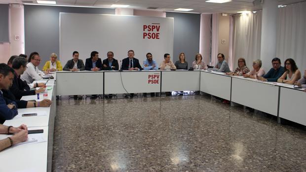 Imagen de la ejecutiva del PSPV celebrada este lunes