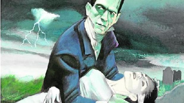 Ilustración de Frankenstein de Fernando Vicente