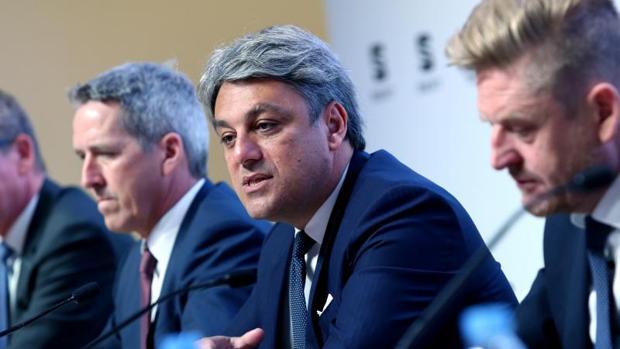 Luca de Meo, durante la presentación de los resultados de Seat de 2017