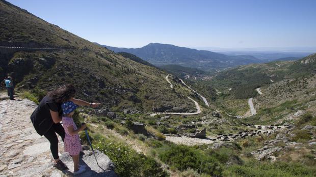 Vistas desde el puerto del Pico en Ávila