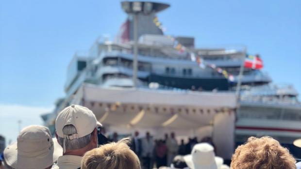 Pasajeros de cruceros de Fred. Olsen este lunes en Cádiz