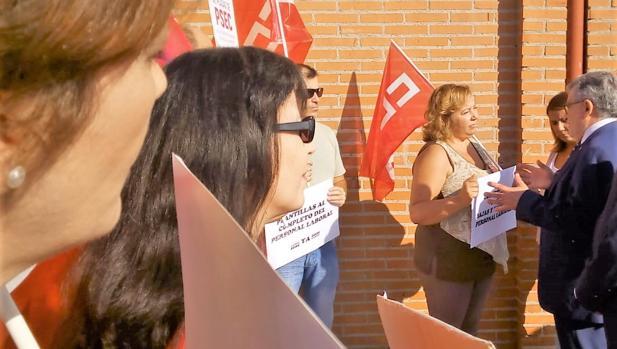Felpeto furante su visita a los institutos de Talavera