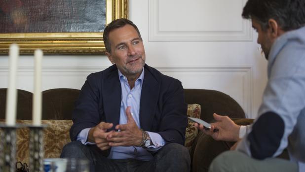 El ex embajador en España, durante la entrevista