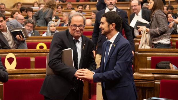 Torra, en el Parlamento de Cataluña, en una imagen de archivo