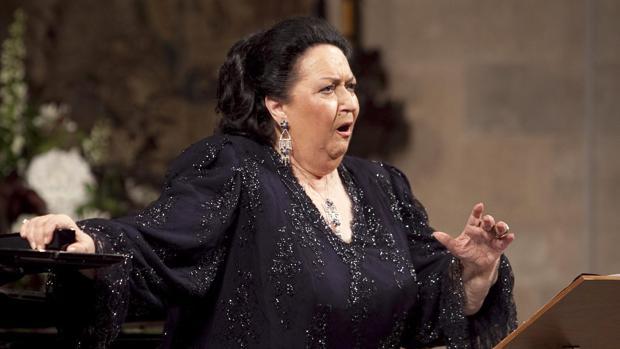 Montserrat Caballé, durante una actuación en Peralada