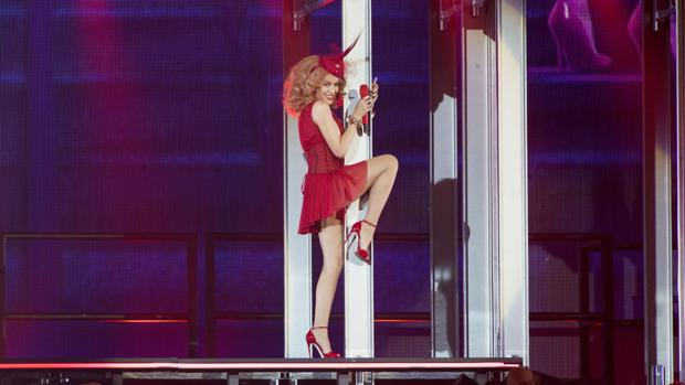 Kylie Minogue, durante una actuación en Madrid