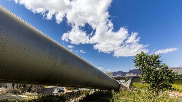 Conducciones del trasvase Tajo-Segura en Orihuela