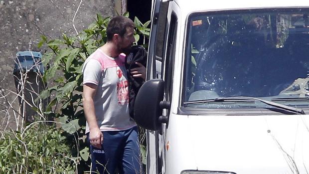 Enrique Abuín, «El Chicle», el pasado mes de junio durante la reconstrucción del asesinato de Diana Quer