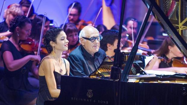 Michael Nyman, durante su último concierto en el ADDA de Alicante
