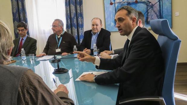 César Sánchez, reunido con representantes agrarios