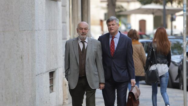 El juez que instruye el caso Cursach, Miguel Florit, a su llegada al Tribunal Superior de Justicia de Baleares